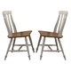 Liberty Furniture Al Fresco Slat Back Side Chair (Set of 2) in Driftwood/Sand 841-C1500S