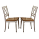 Liberty Furniture Al Fresco Double X Back Side Chair (Set of 2)  in Driftwood/Sand 841-C3000S
