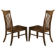 Liberty Furniture Arbor Hills Slat Back Side Chair (Set of 2) in Sandstone 92-C1500S