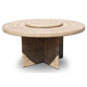 Skyline Design Dann Foley Highland Round Dining Table and Lazy Susan 53111