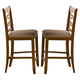 Liberty Furniture Bistro Double X-Back Counter Chair (Set of 2) in Honey 64-B300124