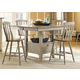 Liberty Furniture Al Fresco 5 Piece Gathering Dining Set in Driftwood/Taupe