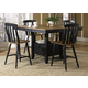 Liberty Furniture Al Fresco 5 Piece Gathering Dining Set in Driftwood/Black