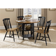 Liberty Furniture Al Fresco 6 Piece Drop Leaf Dining Set in Driftwood/Black