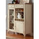 Liberty Furniture Cottage Cove Display Cabinet in Weathered Ivory/Maple 157-CH4863