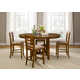 Liberty Furniture Bistro 5 Piece Gathering Dining Set in Honey