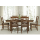 Liberty Furniture Bistro 7 Piece Trestle Dining Set in Honey