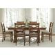 Liberty Furniture Bistro 7 Piece Trestle Dining Set in Honey
