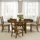 Liberty Furniture Bistro 5 Piece Oval Pedestal Dining Set in Honey