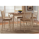 Liberty Furniture Cottage Cove 7 Piece Gathering Dining Set in Ivory/Maple