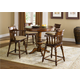 Liberty Furniture Crystal Lakes 5 Piece Round Pub Dining Set in Toffee