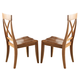 Liberty Furniture Keaton X Back Side Chair (Set of 2) in Honey 119-C3000S