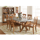 Liberty Furniture Keaton 7 Piece Trestle Dining Set in Honey