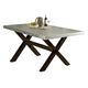 Liberty Furniture Keaton Trestle Table in Charcoal 219-T3876