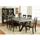 Liberty Furniture Keaton 7 Piece Trestle Dining Set in Charcoal