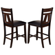 Liberty Furniture Lawson Splat Back Counter Chair (Set of 2) in Light/Dark Expresso 116-B250124