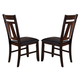 Liberty Furniture Lawson Splat Back Side Chair (Set of 2) in Light/Dark Expresso 116-C2501S