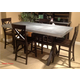 Liberty Furniture Keaton 5 Piece Gathering Dining Set in Charcoal