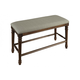 A-America Andover Park Upholstered Bench in Antique Cherry ADVAC395K