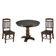 A-America Andover Park 3pc Bluestone Hi-Lo Round Dining Set in Antique Cherry