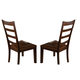A-America Bristol Point Ladderback Side Chair in Oak/Espresso (Set of 2) BTLOE255K