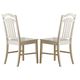 Liberty Furniture Summerhill Slat Back Side Chair (Set of 2) in Rubbed Linen White 518-C1500S