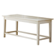 Liberty Furniture Summerhill Bench in Rubbed Linen White 518-C9000B