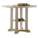 Liberty Furniture Summerhill Gathering Table in Rubbed Linen White 518-GT4848