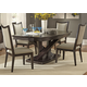 Liberty Furniture Southpark 5 Piece Pedestal Dining Set in Charcoal