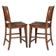 Liberty Furniture Tahoe Slat Back Counter Chair (Set of 2) in Mahogany Stain 555-B150024