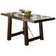 Liberty Furniture Tahoe Trestle Table in Mahogany Stain 555-T4090