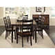 A-America Bristol Point 7pc Butterfly Leg Dining Set in Oak/Espresso
