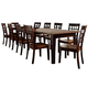 A-America Bristol Point 3-Leaf Vers-A-Table in Oak/Espresso BTLOE617L