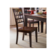 A-America Bristol Point Gridback Side Chair in Oak/Espresso (Set of 2) BTLOE263K