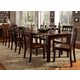 A-America Bristol Point 11pc 3-Leaf Vers-A-Table Dining Set in Oak/Espresso