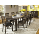 A-America Bristol Point 11pc 3-Leaf Vers-A-Table Dining Set in Warm Gray
