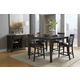 A-America Bristol Point 5pc Butterfly Gathering Height Dining Set in Warm Gray
