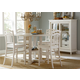 Liberty Furniture Summerhill 5 Piece Gathering Dining Set in Rubbed Linen White