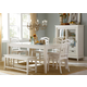 Liberty Furniture Summerhill 7 Piece Rectangular Leg Dining Set in Rubbed Linen White