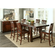 Liberty Furniture Tahoe 7 Piece Gathering Dining Set in Mahogany Stain