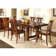 Liberty Furniture Tahoe 7 Piece Trestle Dining Set in Mahogany Stain
