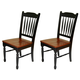 A-America British Isles Slatback Side Chair in Honey/Espresso (Set of 2) BRIHE267K