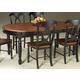 A-America British Isles Oval Leg Dining Table in Oak/Black BRIOB6310