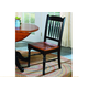 A-America British Isles Slatback Side Chair in Oak/Black (Set of 2) BRIOB267K