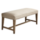 Liberty Furniture Weatherford Bench in Weathered Gray 645-C6501B
