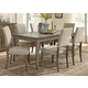 Liberty Furniture Weatherford 7 Piece Rectangular Leg Dining Set in Weathered Gray