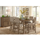 Liberty Furniture Weatherford 7 Piece Gathering Table Dining Set in Weathered Gray