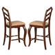 Liberty Furniture Woodland Creek Ladder Back Counter Chair (Set of 2) in Rust Russet 606-B200124