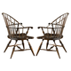 Fine Furniture American Cherry Rhode Island Windsor Arm Chair (Set of 2) 1020-827