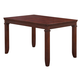 Standard Furniture Dallas Rectangular Leg Table with Chairs in Brown Cherry Finish 12202